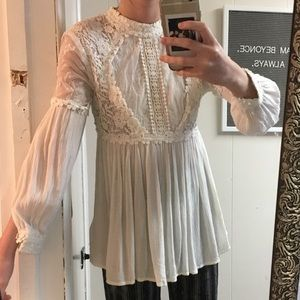 Free people long sleeve lace